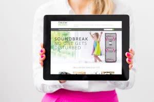 Fletcher Website website on tablet