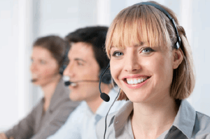 woman on headset image