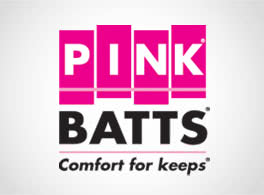 "Pink Batts ""comfort for keeps"" - logo"