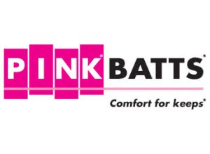 Pink batts - comfort for keeps logo