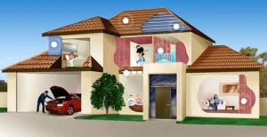 digital image product selector - house cross-sectional view