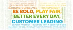 """""""Be bold, Play Fair"""" text"""