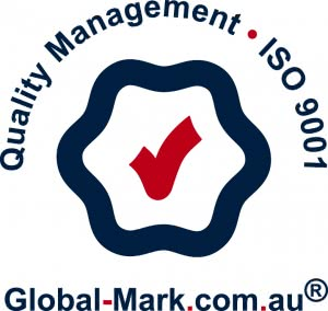 quality management - ISO 9001 - global-mark.com.au logo