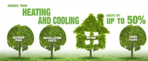 Reduce your heating and cooling image - 4 tree with text in each
