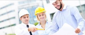 builders looking at plans