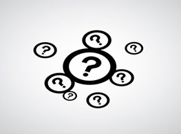 FAQ image - 8 question marks with a circle wrapping each individually