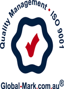 quality management - ISO 9001 - global-mark.com.au logo