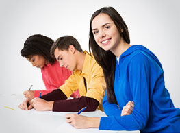 3 students images - writing