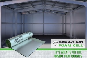 "inside of an empty warehouse with sislation foam cell ""it's what's on the inside that counts"""
