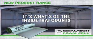 """inside of an empty warehouse with sislation foam cell """"it's what's on the inside that counts"""""""