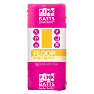 Pink Batts floor insulation