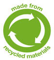made from recycled materials logo